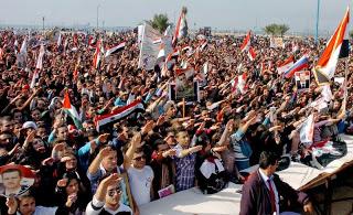 митинг греческих нацистов в поддежку Асада