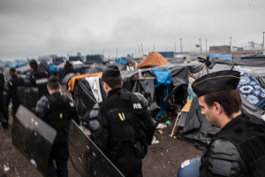 The eviction of refugee camps in Calais