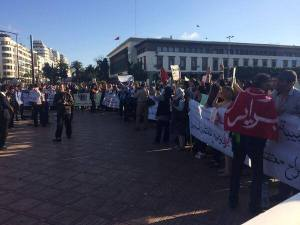 6 June 2014, Sit in calling for the release of political prisoners in Casablanca. Photo Via: @LeJebly