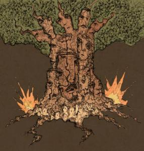 We die like trees, standing up'. Courtesy of the artist Nidal El Khairy.
